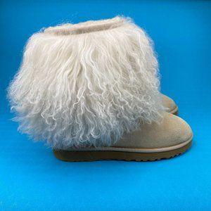 UGG Australia Womens Ivory Mongolian 1875 Sheepskin Winter Boots US 7